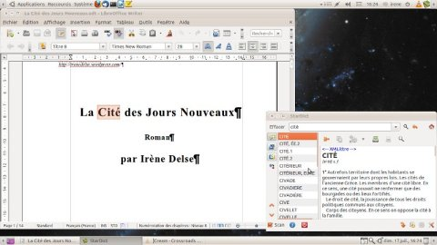 Capture d'écran (Libre Office et StarDict sous Ubuntu)