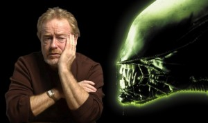 Photo montage: Ridley Scott and the head of the Alien
