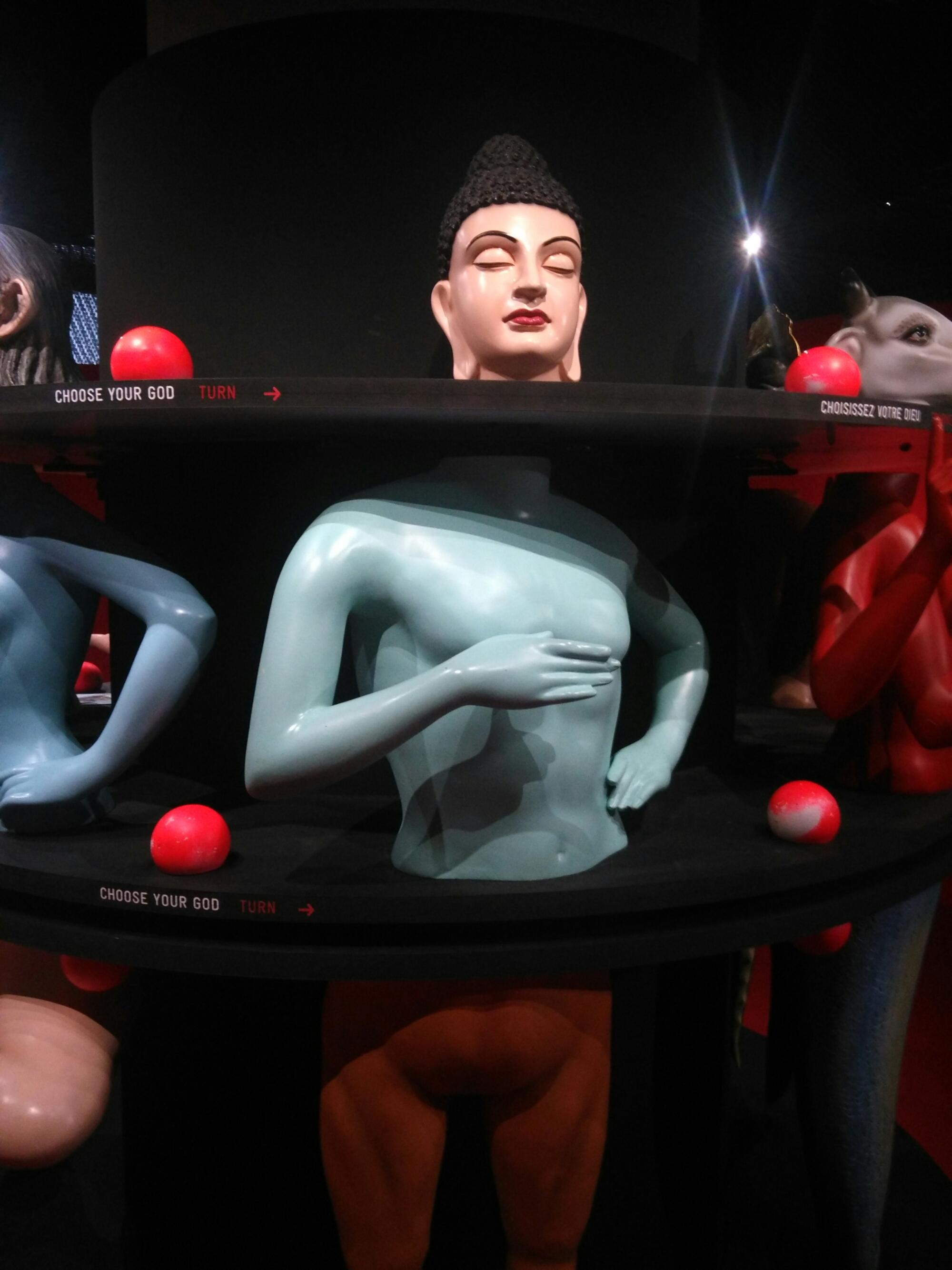 Sculpture interactive : sur le bouton