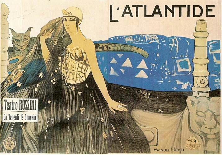 Affiche du film de Jacques Feyder L'Atlantide (1921), d'après le roman de Pierre Benoit