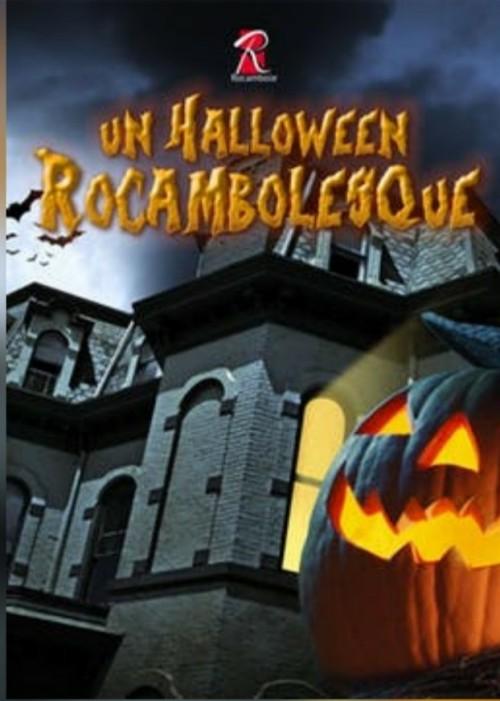 Maison hantée et citrouille de Halloween