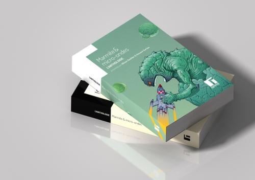 photo : couverture de l'anthologie, représentant un monstre en train de dévorer un vaisseau spatial